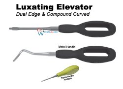 Luxating Elevator (Luxator) Luxating Elevator Dual edge  Curved